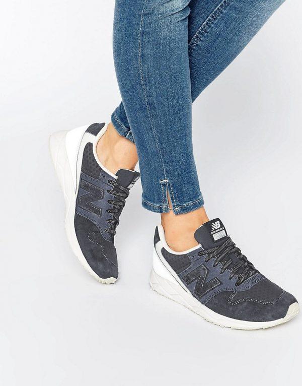 Zapatillas de deporte de ante gris y malla 996 de New Balance