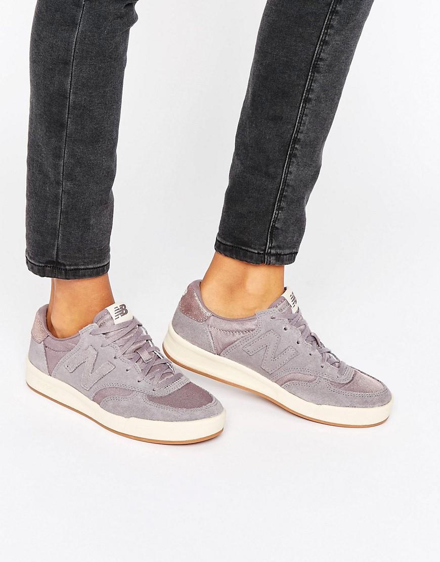Zapatillas de deporte de ante grises con ribete metalizado 300 de New Balance