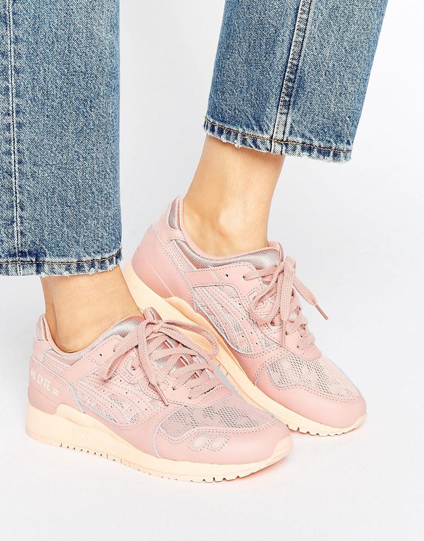 Zapatillas de deporte de malla en rosa Gel-Lyte lii de Asics