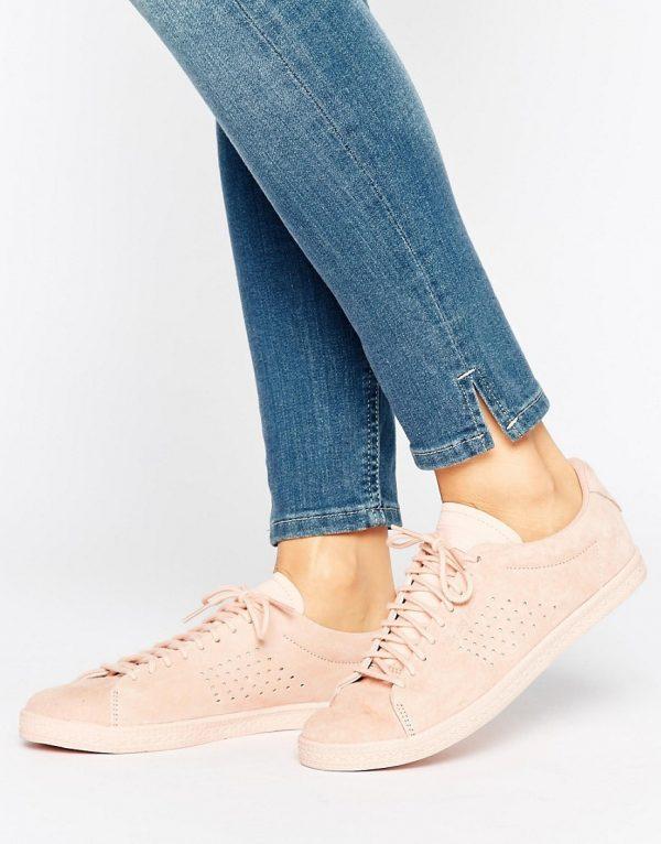 Zapatillas de deporte de nobuk en color rosa Charline de Le Coq Sportif