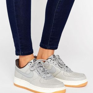 Zapatillas de deporte grises Air Force 1 de Nike