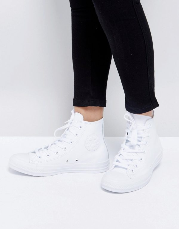 Zapatillas de deporte hi-top de cuero Chuck Taylor All Star de Converse