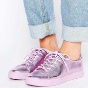 Zapatillas de deporte metalizadas con cordones DARLEY en ofertas calzado