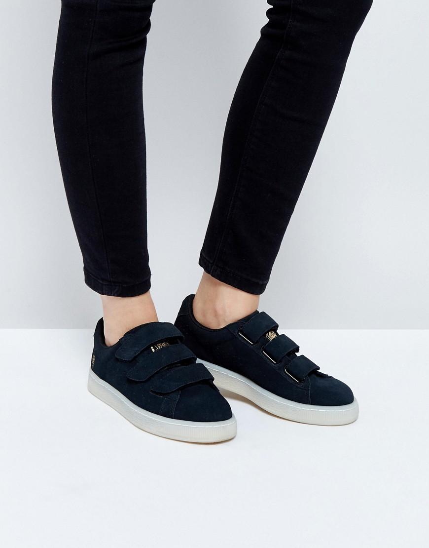 Zapatillas de deporte negras con puntera metalizada en cobre