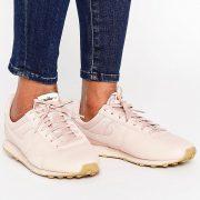 Zapatillas de deporte rosas de cuero de primera calidad Pre Montreal de Nike