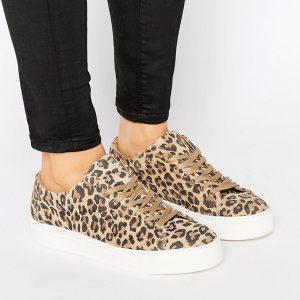 Zapatillas de leopardo Donna de Selected