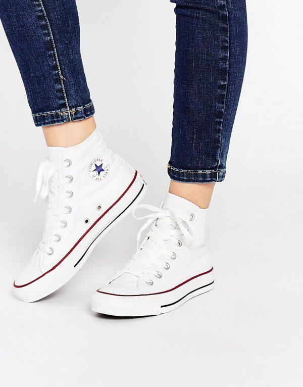 Zapatillas hi top blancas All Star de Converse