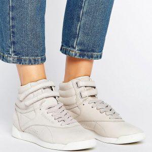 Zapatillas hi-top en color gris claro X Face Freestyle de Reebok