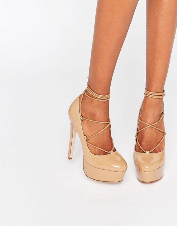 Zapatos de plataforma con cordones PARTY ALL NIGHT en ofertas calzado