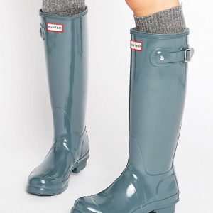 Botas de agua altas con brillo de Hunter Original