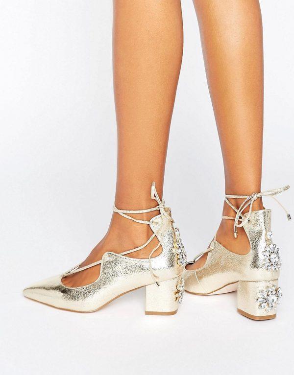 Zapatos de tacon de novia con adornos en ofertas calzado SALOON