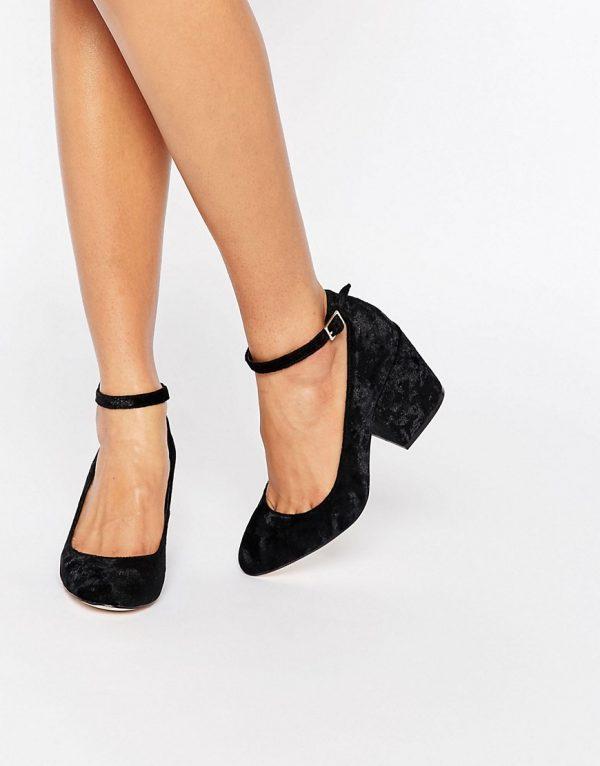Zapatos de tacon de terciopelo SWEET en ofertas calzado