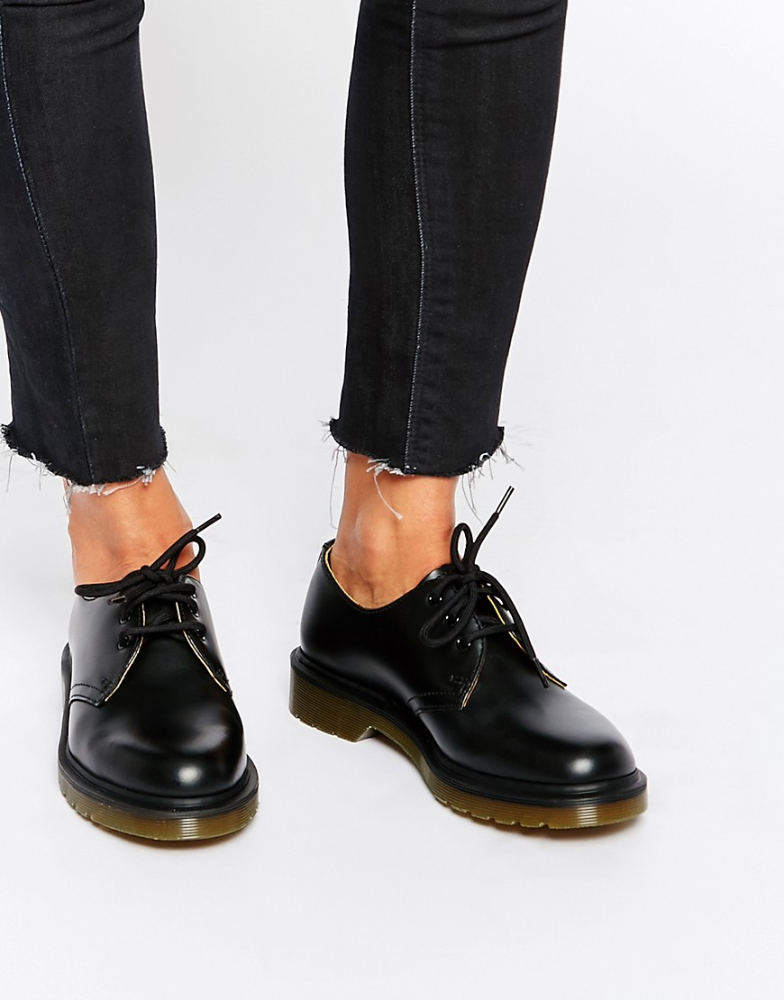 Zapatos planos clasicos negros 1461 de Dr Martens