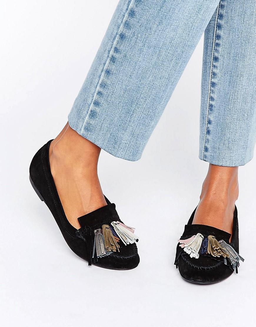 Zapatos planos de ante con borlas MYLA en ofertas calzado