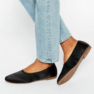 Zapatos planos de saten Ayden de Vagabond