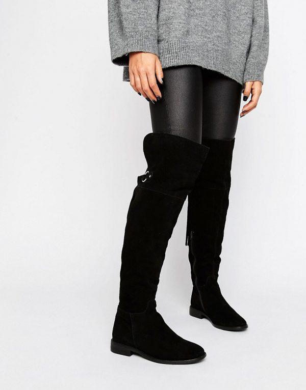 Botas de ante por encima de la rodilla KAO en ofertas calzado