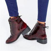 Botas Oxford de cuero con cordones AMAR en ofertas calzado