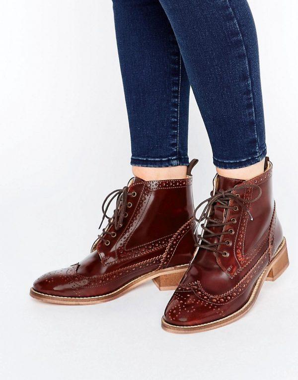 Botas Oxford de cuero con cordones ARTISTRY en ofertas calzado