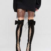 Botas por encima de la rodilla con cordones y lazo KARI en ofertas calzado