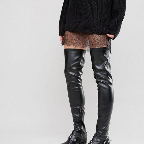 Botas por encima de la rodilla estilo western KARZA en ofertas calzado
