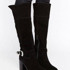 Botas por la rodilla de ante de estilo western CABRILLA en ofertas calzado