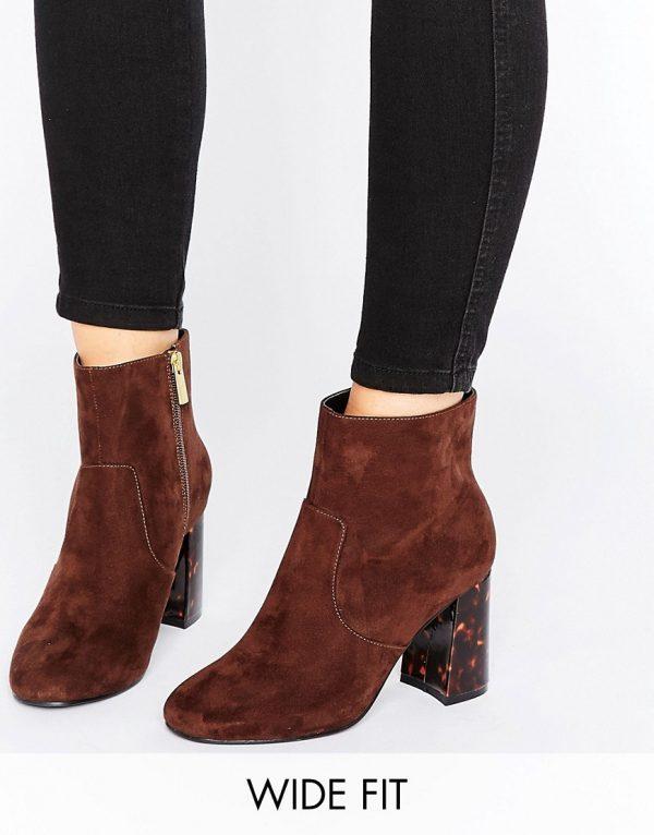 Botines anchos de tacon ERIN en ofertas calzado