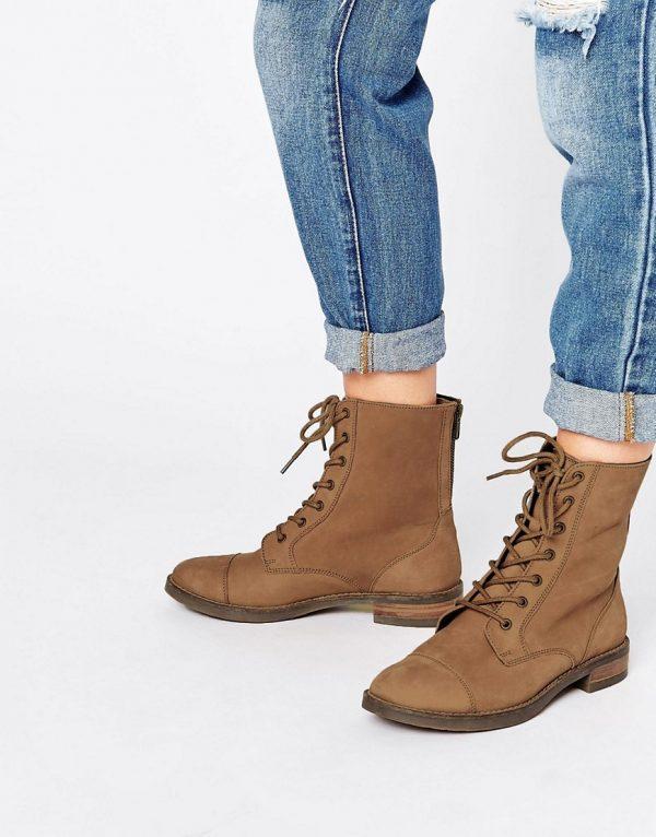 Botines de cuero con cordones ANCROS en ofertas calzado