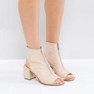 Botines de cuero con cremallera RASPBERRY en ofertas calzado