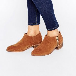 Botines de cuero de corte ancho ALDGATE en ofertas calzado