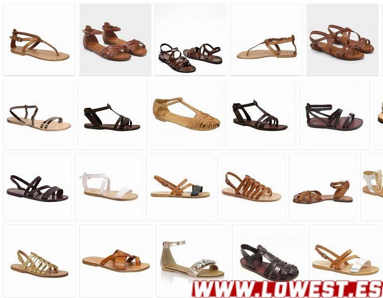 sandalias planas de cuero mujer notizalia