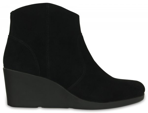 Crocs Boot Mujer Negros Leigh Suede ie