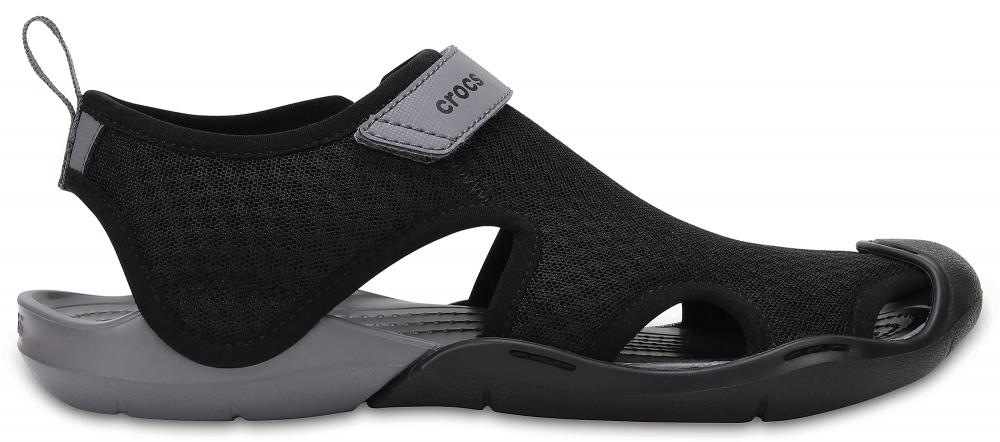 Crocs Sandal Mujer Negros Swiftwater Mesh s