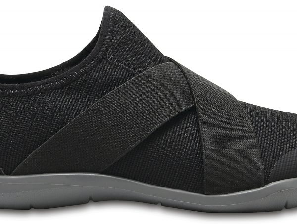 Crocs Shoe Mujer Negros Swiftwater Cross-Strap Static