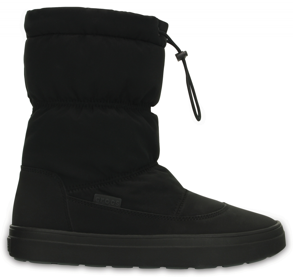 Crocs Boot Mujer Negros LodgePoint Pull-on
