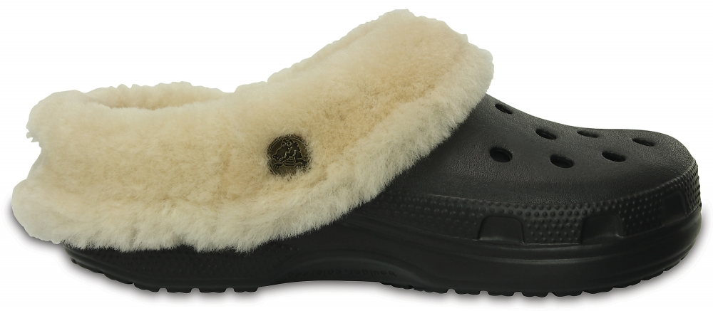 Crocs Clog Unisex Negros Classic Mammoth Luxe Shearling Lined