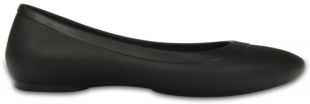 Crocs Flat Mujer Negros Crocs Lina