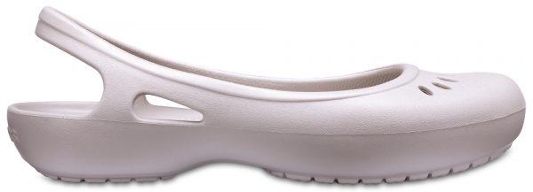 Crocs Flat Mujer Platinum Kadee Slingbacks