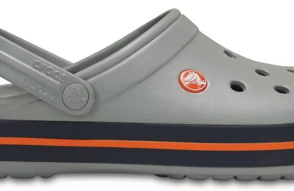 Crocs Clog Unisex Light Grey / Azul Navy Crocband