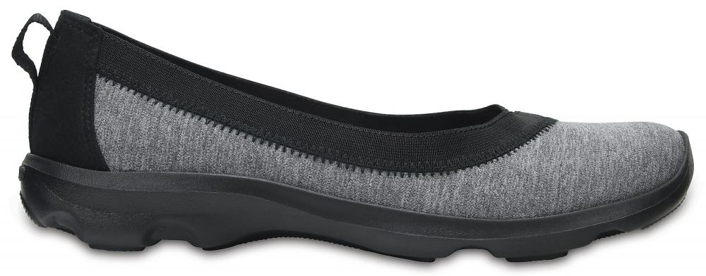 Crocs Flat Mujer Dark Grey Busy Day Stretch Heather s