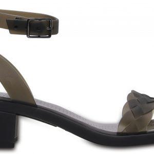 Crocs Heel Mujer Negros / Graphite Crocs Isabella Block s