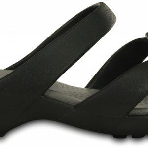 Crocs Sandal Mujer Negros / Smoke Meleen Twist