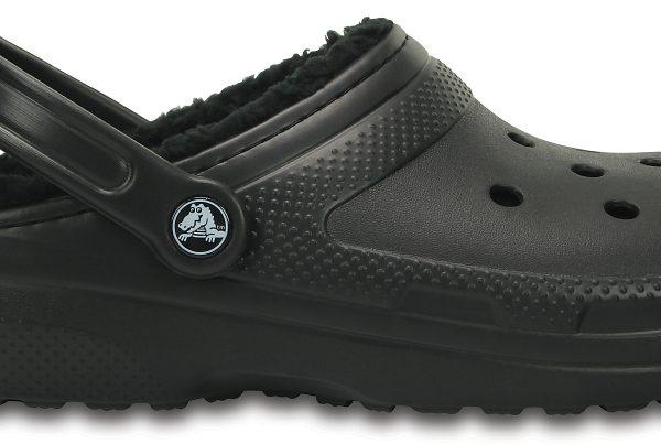 Crocs Clog Unisex Negros / Negros Classic Fuzz Lined