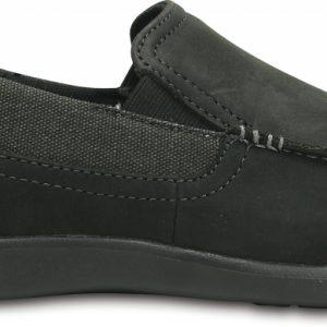 Crocs Loafer Hombre Negros / Negros Santa Cruz 2 Luxe Leather