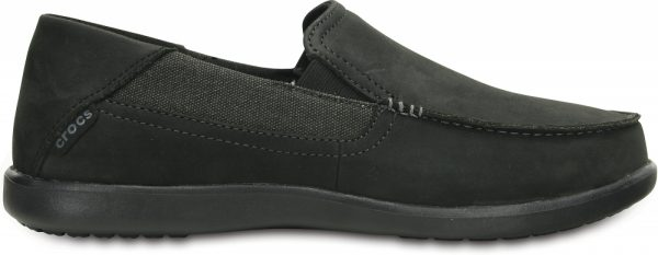 Crocs Loafer Hombre Negros / Negros Santa Cruz 2 Luxe Leather