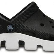 Crocs Clog Unisex Negros / Blancos Duet Sport