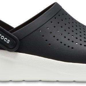 Crocs Clog Unisex Negros / Blancos LiteRide s
