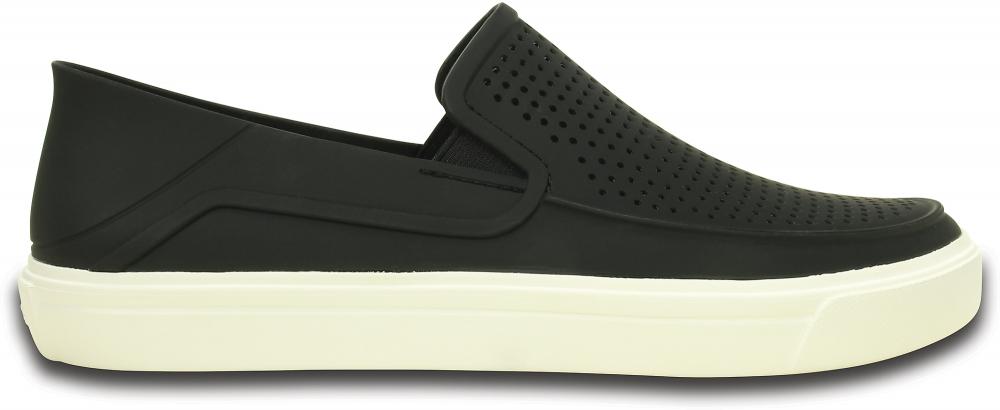 Crocs Shoe Hombre Negros / Blancos CitiLane Roka Slip-ons