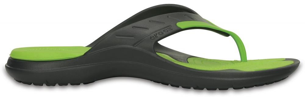 Crocs Flip Unisex Graphite / Volt Verdes MODI Sport
