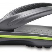 Crocs Flip Unisex Graphite / Volt Verdes Crocband