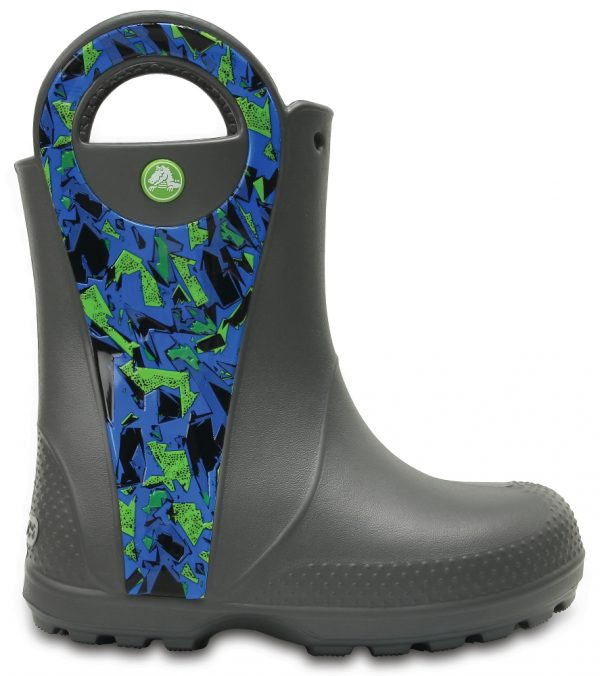 Crocs Boot Unisex Slate Grey Handle It Graphic